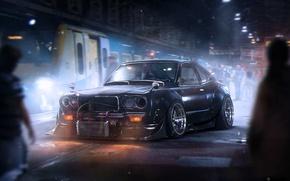 Picture Dark, Mazda, Black, Tuning, Future, Savanna, by Khyzyl Saleem, RX-3