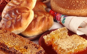 Picture food, cell, honey, honey, napkin, cakes