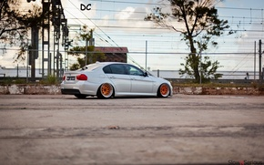 Wallpaper metalik, E90, drives, bbs, BMW, series