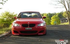Picture BMW, red, e60