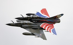 Picture flight, wings, fighters, pair