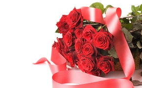 Picture holiday, roses, bouquet, tape, Red, Valentine`s day, chic