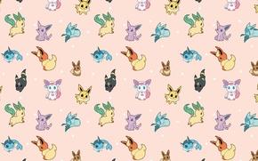 Picture background, texture, anime, art, pokemon