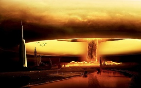 Wallpaper a nuclear explosion