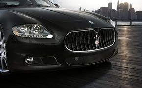 Wallpaper Maserati, grille, Maserati, logo