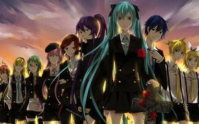 Picture vocaloid, hatsune miku, Meiko, Vocaloid, Lily, kaito, len kagamine, rin kagamine, Rubber Megpoid, Kamui Gakupo, …