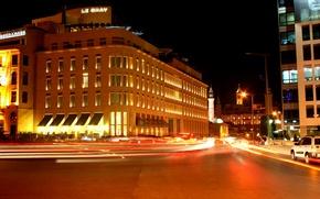 Picture night, lights, movement, light, night, Lebanon, Beirut, Beirut, Lebanon