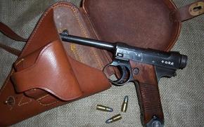 Picture gun, weapons, Japanese, self-loading, Type 14, Nambu