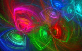 Picture butterfly, abstraction, background, Wallpaper, figure, fractal, figure, objects