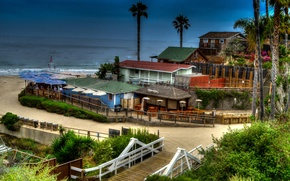 Wallpaper sea, beach, HDR, home, CA, USA, Newport Beach
