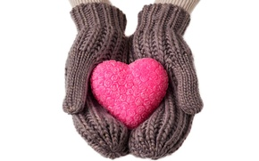 Picture winter, love, heart, gloves, love, heart, winter, gloves