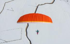 Wallpaper sport, the sky, parachuting