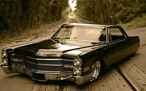 Picture Cadillac, low rider, retro car, City