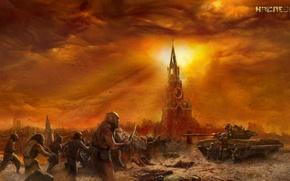 Picture Moscow, devastation, postapokalipsis, heritage, Sergei tarmahsev, mutants.