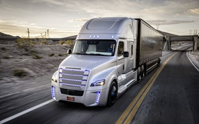 Picture movement, speed, track, Truck, Freightliner, Daimler, Inspiration