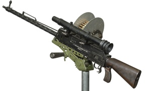 Picture machine gun, sight, coil, optical, M1913, Parabellum, Austrian, Black loose