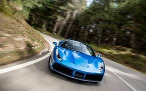 Picture Ferrari, Ferrari, Spider, The front, 488