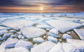 Picture cold, winter, frost, ice, ice, province, Friesland, the North of the Netherlands