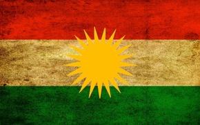 Picture Flag, Coat of arms, Kurdistan, The Flag Of Kurdistan