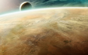 Picture space, planet, satellite, the atmosphere, Warhammer, 40000, desert