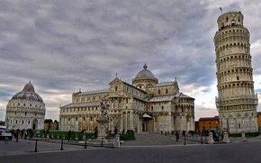 Picture Italy, Cathedral, Pisa, the leaning tower