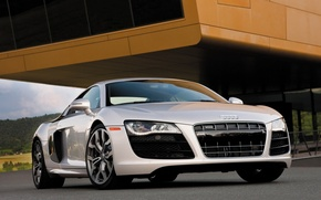 Wallpaper Audi R8, white