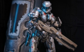 Wallpaper weapons, toy, Halo 4, armor, costume