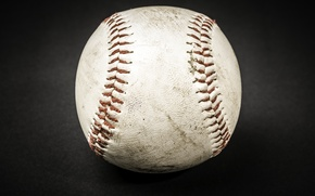 Picture white, leather, ball, baseball, stitches