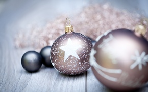 Picture decoration, balls, New Year, Christmas, Christmas, balls, decoration, Merry