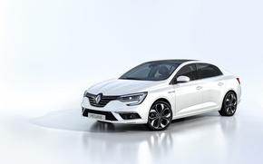 Picture white background, Renault, Reno, Megan, Megane