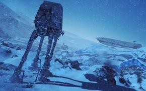 Wallpaper Electronic Arts, snow, Star Wars Battlefront, winter