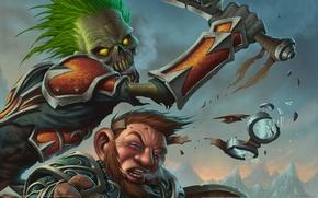 Wallpaper Glasses, WoW, World of Warcraft, Fight, Battle, Undead, Blow, Killer, Dwarf, Undead
