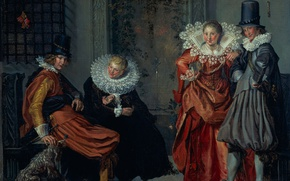 Picture picture, genre, The Stage Of Courtship, Willem Buytewech