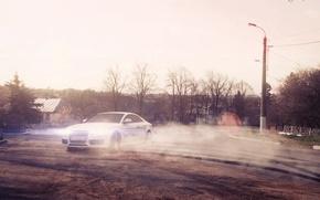 Picture auto, smoke, bmw, BMW, coupe, skid, driver, class, drift, drift, drives, auto, wheel, bus