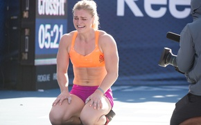 Picture fatigue, tiredness, crossfit games, Katrin Davídsdóttir