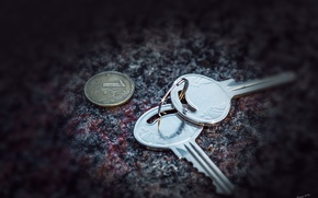 Picture old, keys, the ruble