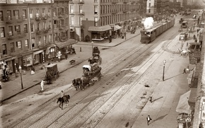 Wallpaper wagon, street, tram