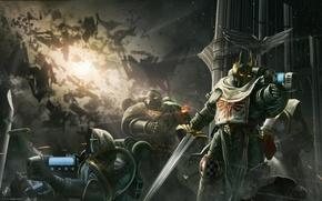 Picture weapons, war, armor, Warhammer 40K, the Dark Angels
