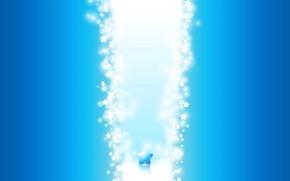 Wallpaper light, blue, stars