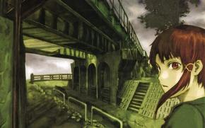 Picture look, bridge, fiction, Art, cyberpunk, drama, Serial Experiments Lain, everyone is connected, Lain Iwakura, Lane …