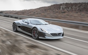 Picture Concept, movement, speed, track, One, Rimac, 2016
