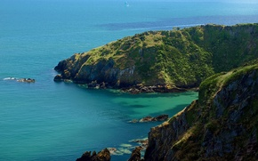 Picture sea, stones, rocks, coast, England, rock, Dartmouth