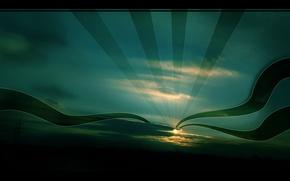 Wallpaper the sky, the sun, night, Wallpaper