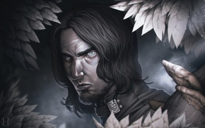Wallpaper face, male, art, assassin, Forgotten Realms, Artemis Entreri, Barrabus the Gray
