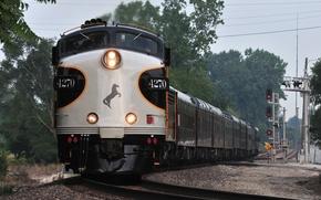 Picture horse, lights, train, composition