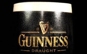 Wallpaper black, beer, guinness