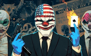Picture Dallas, Dallas, Clover, Hoxton, PAYDAY 2, Hoxton, Clover