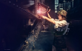 Picture girl, creative, category, steampunk