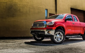 Picture Toyota, tuning, usa, Tundra, DEVOLRO, wrap, red tundra