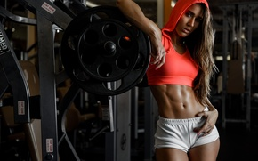 Picture face, hair, figure, class, hall, legs, Valentina, trainer, the gym, sports style, presic